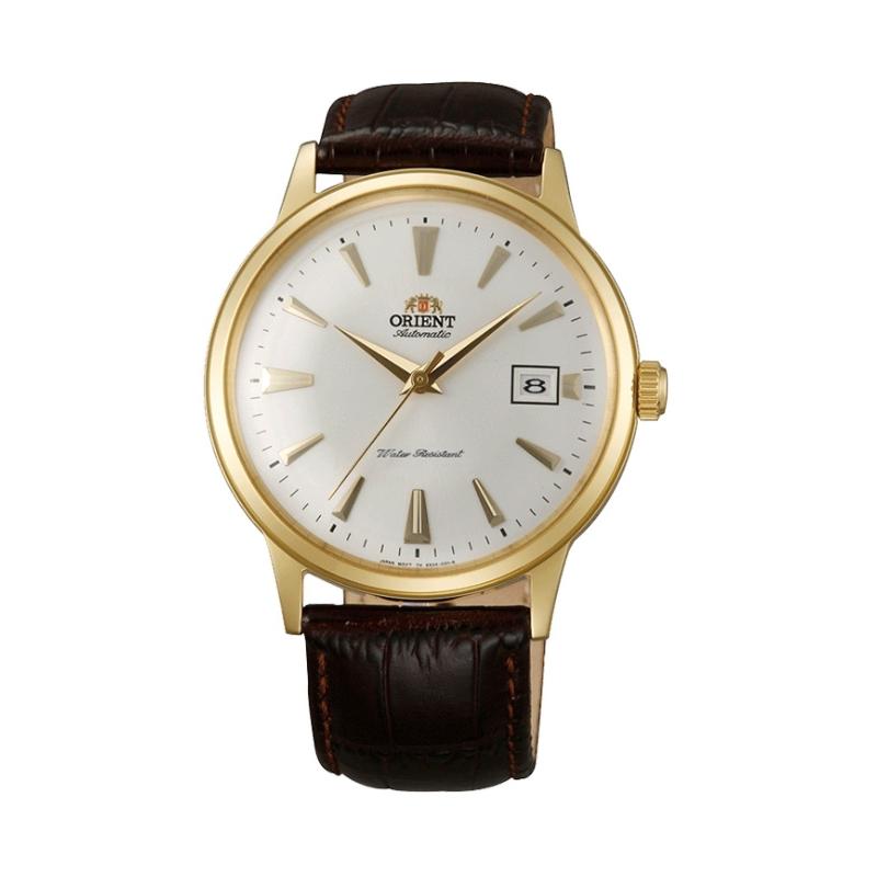 Reloj Orient automático de hombre, con caja dorada de estilo retro, ref. AC00003W.