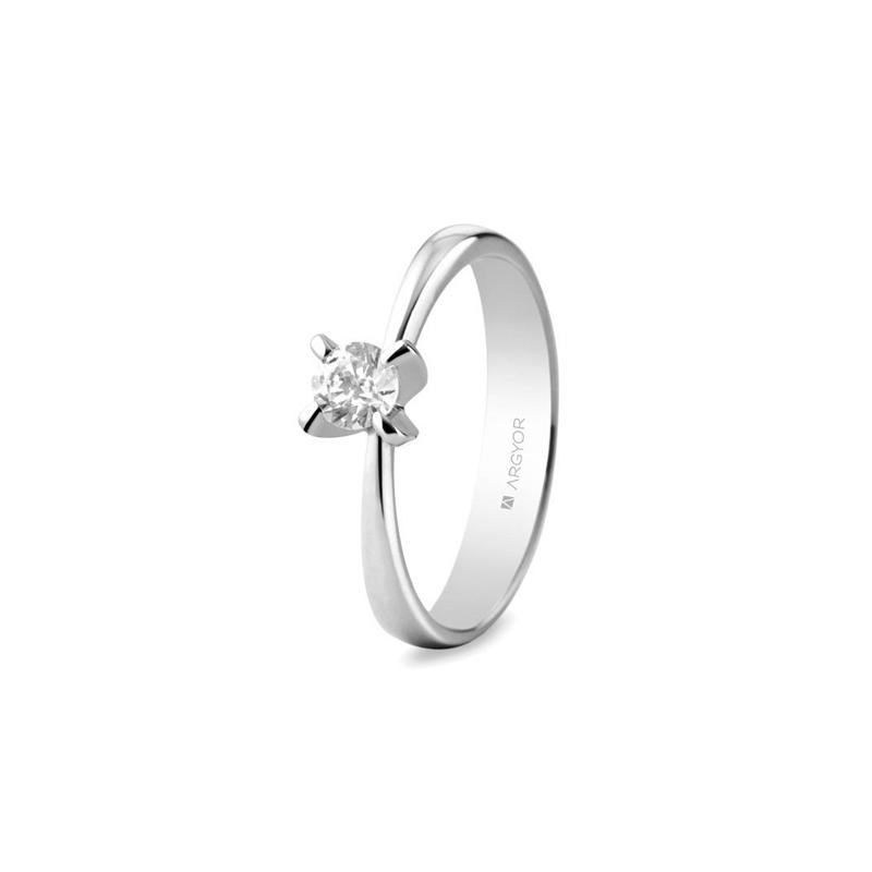 Solitario de oro blanco con diamante de 0,34 quilates para mujer, de Argyor Compromiso.