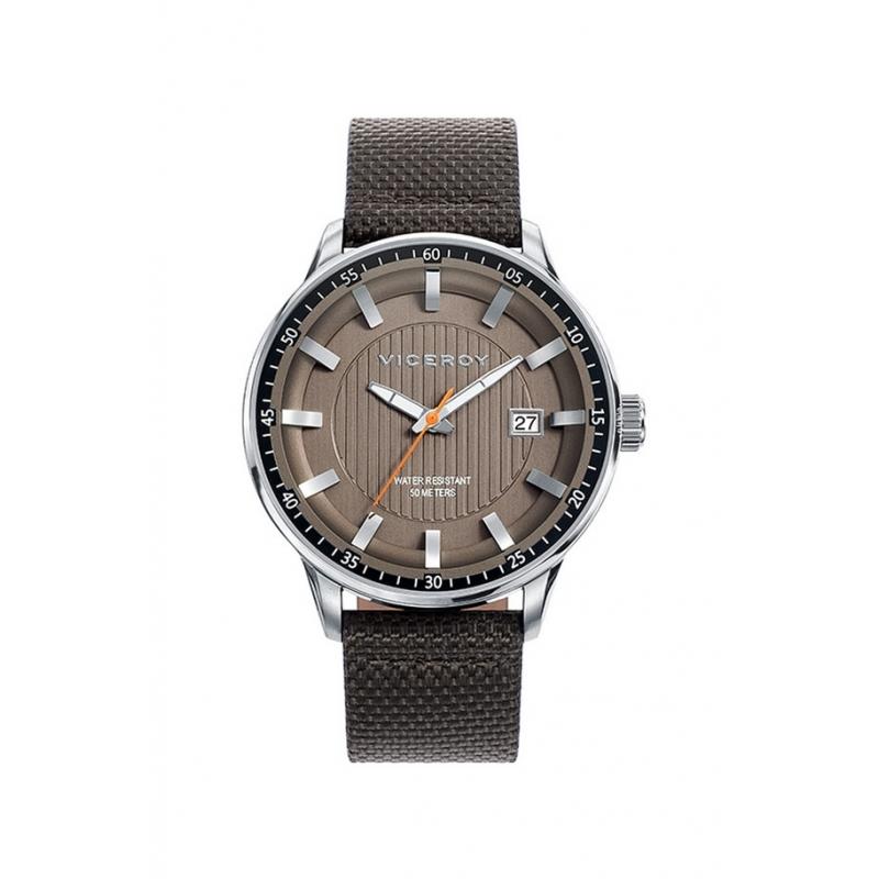 Reloj Viceroy para hombre Icon en marrón con correa de nylon, ref. 42303-47.