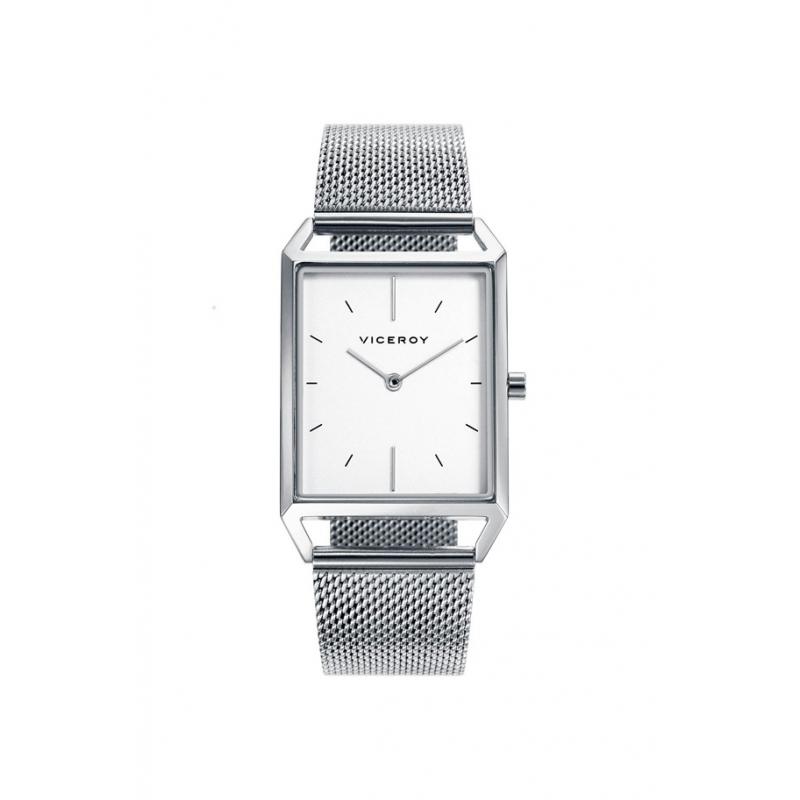 Reloj Viceroy de hombre con malla y caja rectangular, ref. 471123-07.