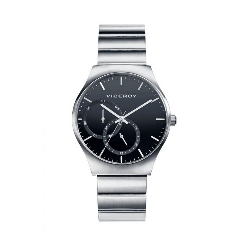 Reloj Viceroy de hombre, en acero con esfera negra, ref. 401091-57.