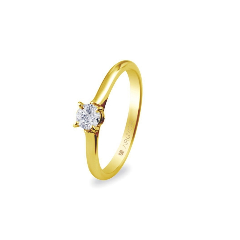 Solitario de oro amarillo con diamante de 0,30 quilates, de Argyor Compromiso.