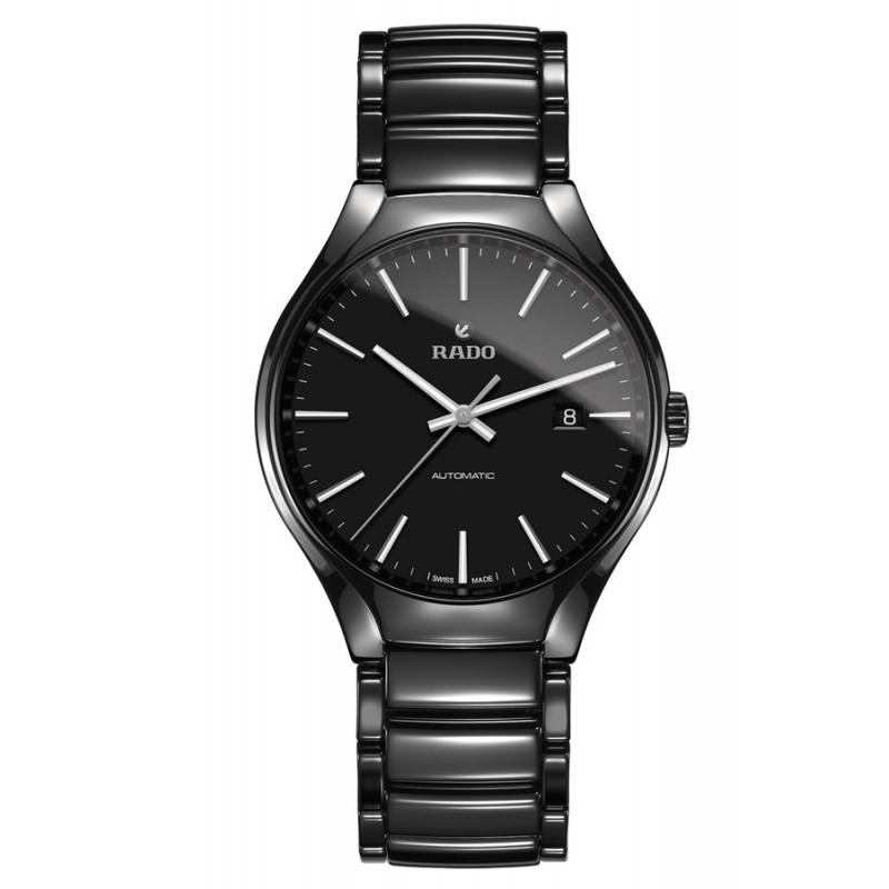 """Reloj Rado para hombre automático """"True"""" en cerámica negra, ref. R27056152."""