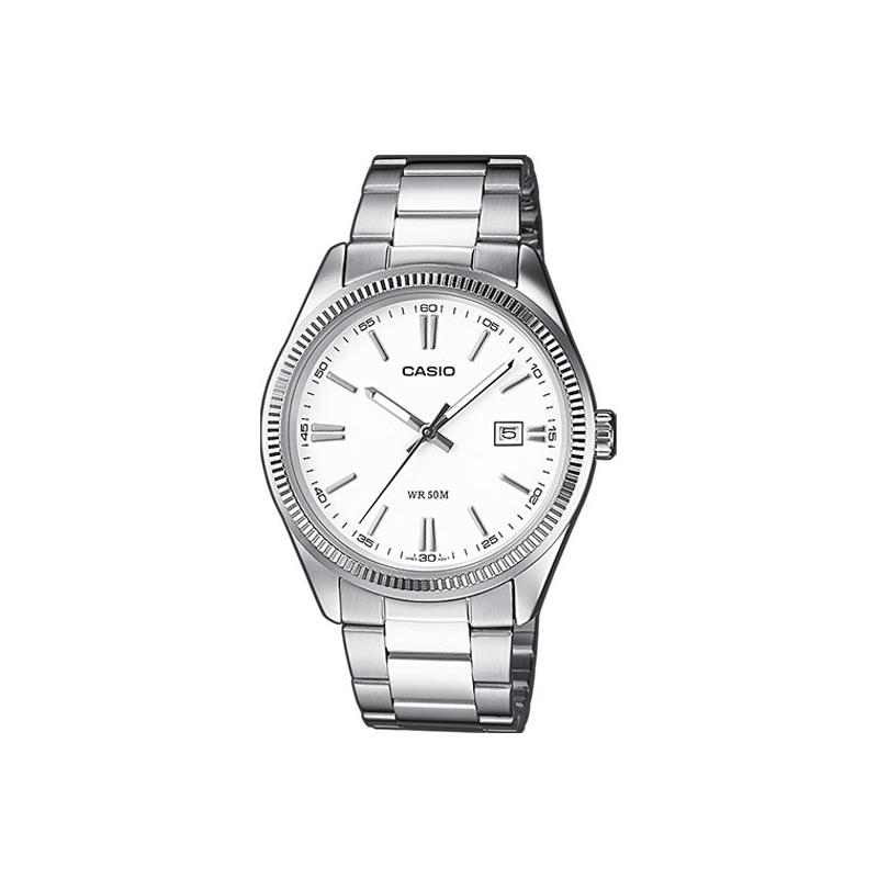Reloj Casio de hombre en plateado, de la gama básica, ref. MTP-1302PD-7A1VEF.