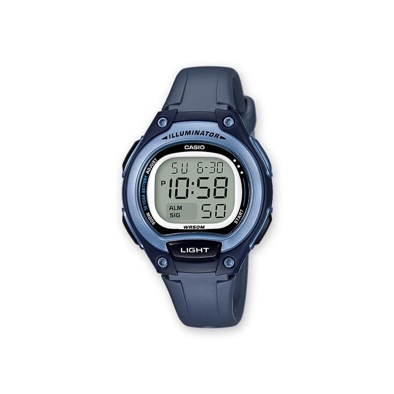 Reloj Casio para cadete, digital en resina azul, ref. LW-203-2AVEF.