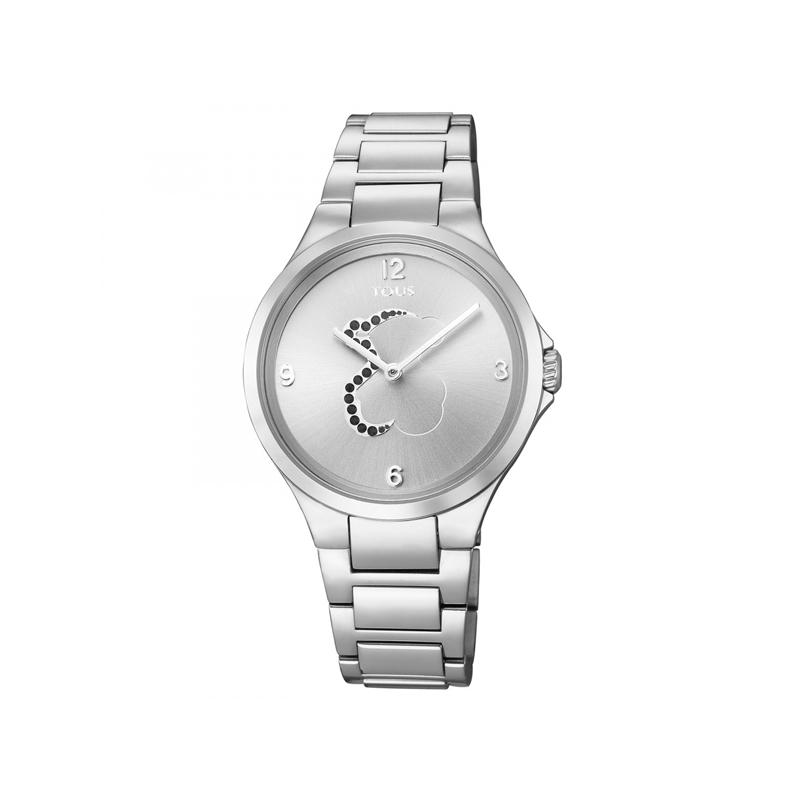 Reloj Tous Motion para mujer, en acero con piedras azules, ref. 700350205.
