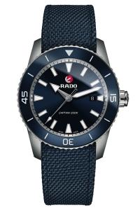 Reloj Rado automático HyperChrome Captain Cook en titanio y correa de nylon azul, R32501206.