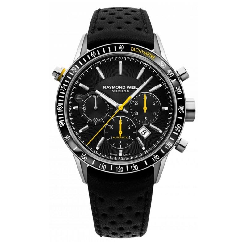 Reloj Raymond Weil Freelancer para hombre, automático con cronógrafo y taquímetro, en negro 7740-SC1-20021.