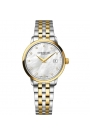 Reloj Raymond Weil de mujer Freelancer, bicolor con esfera de nácar y diamantes, 5629-STP-97081.