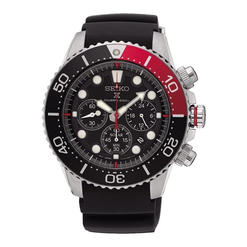 """Reloj Seiko Prospex """"Mar"""" Solar para hombre, Diver 200 metros, con cronógrafo, SSC617P1."""