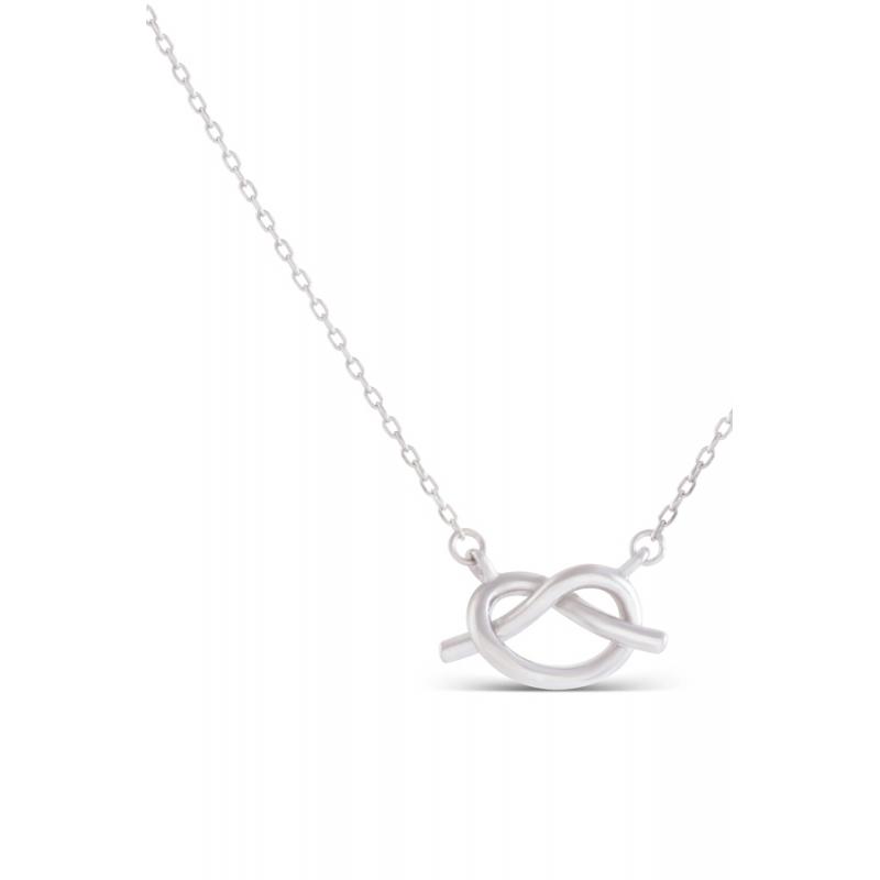 "Colgante en forma de nudo en plata, con cadena, ""Duluka"" de Luxenter."