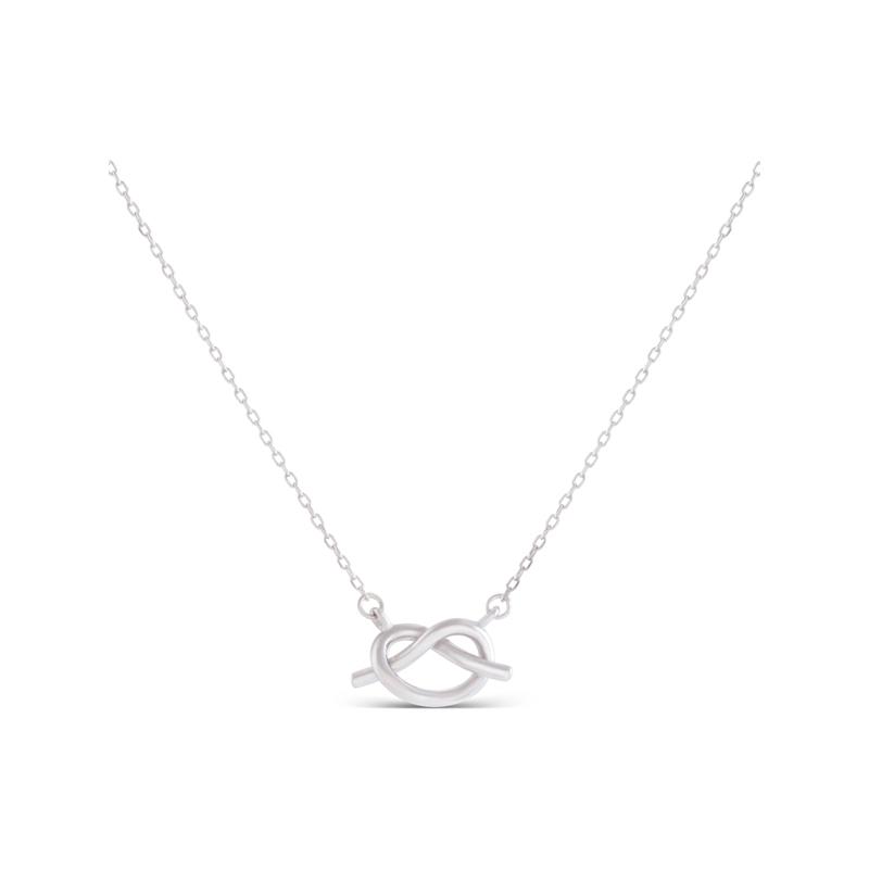 """Colgante en forma de nudo en plata, con cadena, """"Kuluka"""" de Luxenter."""