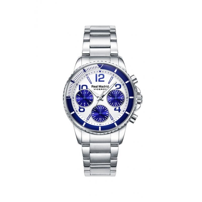Reloj Viceroy Real Madrid tamaño niño/a o mujer, cronógrafo en acero, 42300-07.