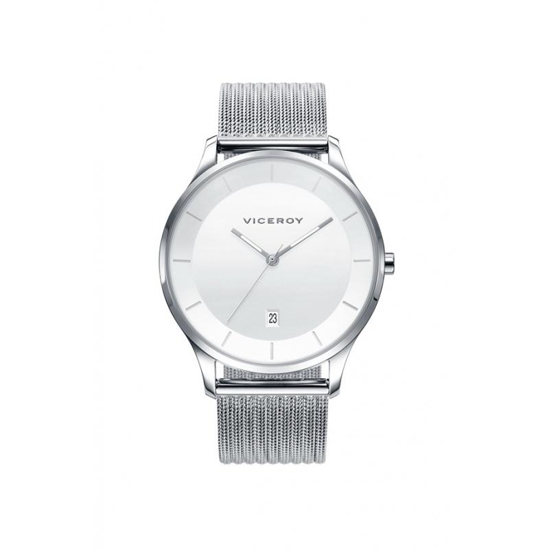 """Reloj Viceroy de hombre """"Air"""" en acero con correa de malla milanesa 42299-07."""