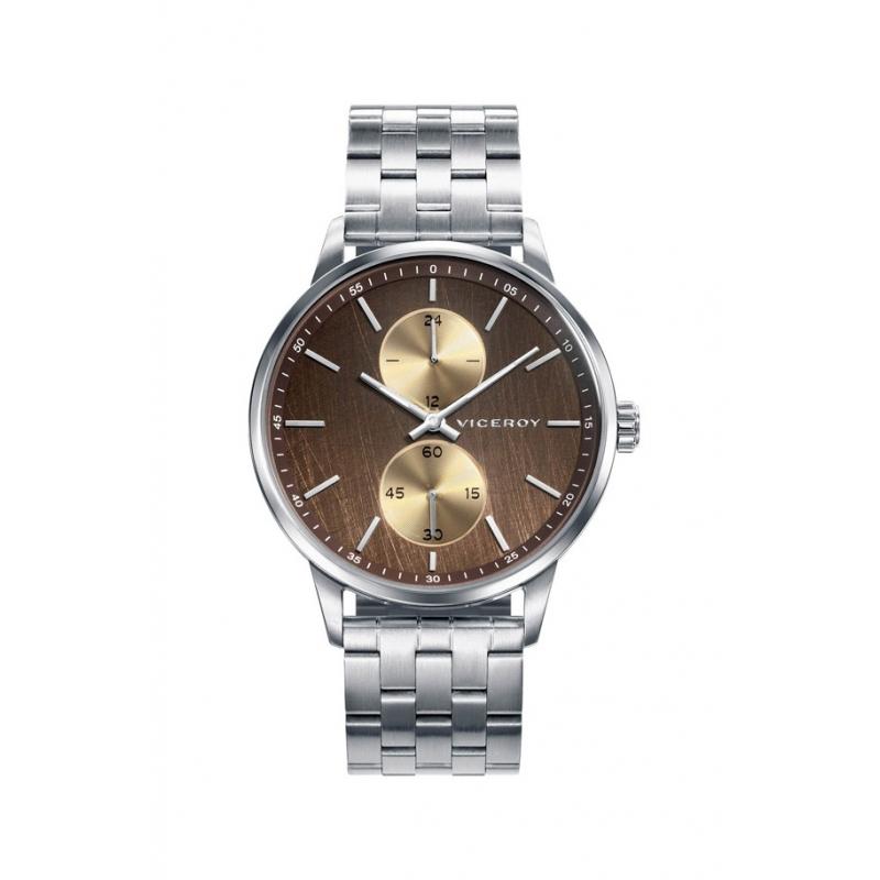 """Reloj Viceroy para hombre """"Beat"""" en acero y esfera en tono marrones, ref. 42329-47."""