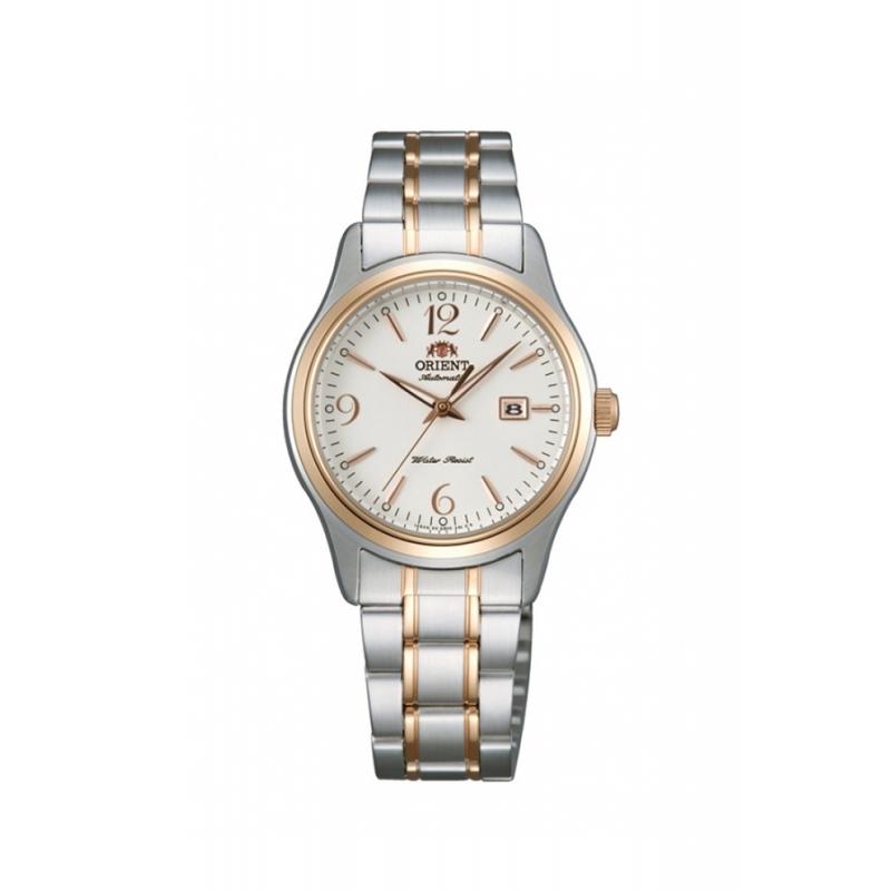 Reloj Orient para mujer, automático en acero bicolor, ref. FNR1Q002W0.