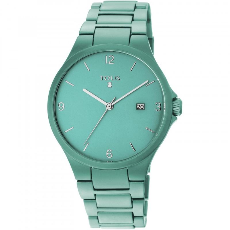 "Reloj Tous de mujer ""Motion"" en alumino turquesa, ref. 800350680."
