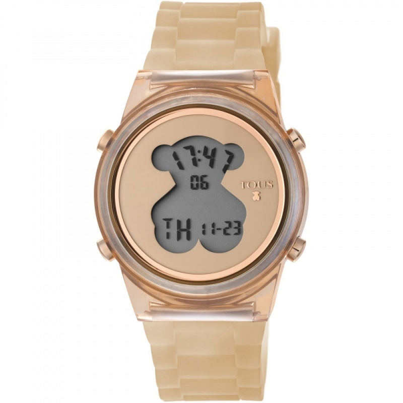 "Reloj Tous de mujer digital ""D-Bear Fresh"", en resina de color nude, ref. 800350695."