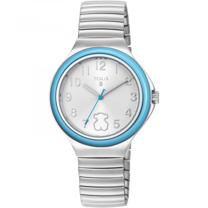 """Reloj Tous de niña """"Easy"""" con correa extensible y bisel azul, ref. 800350650."""