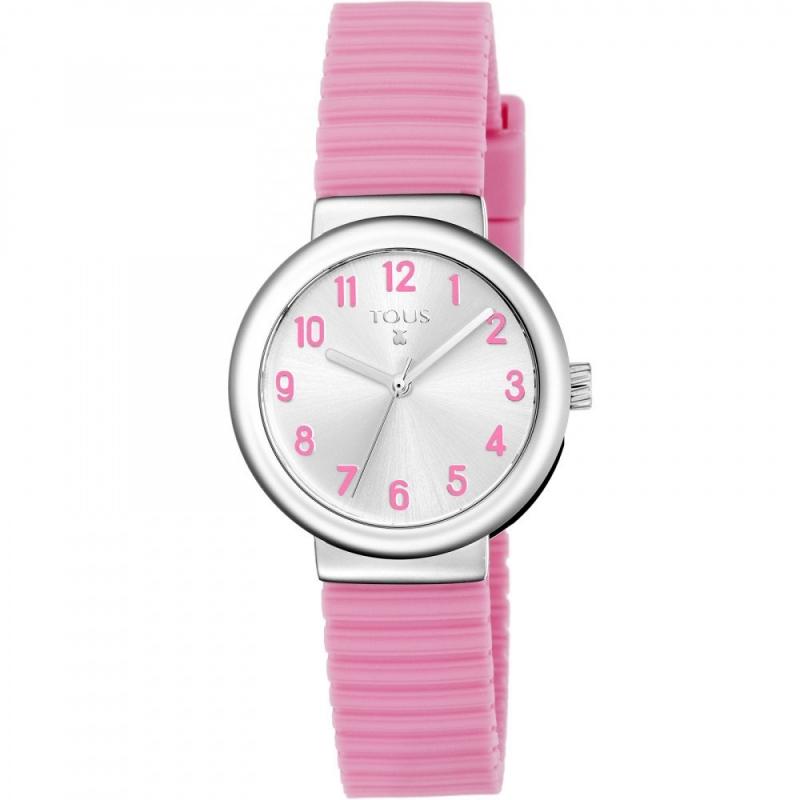"""Reloj Tous para niña """"Rainbow"""", con correa de silicona rosa, ref. 800350585."""
