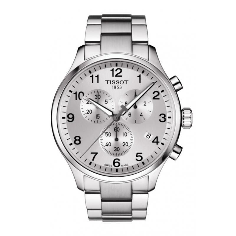 Reloj Tissot Chrono XL para hombre totalmente plateado y cronógrafo, T1166171103700.