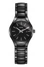 Reloj Rado True de mujer, en cerámica negra y detalles plateados, ref. R27059152.