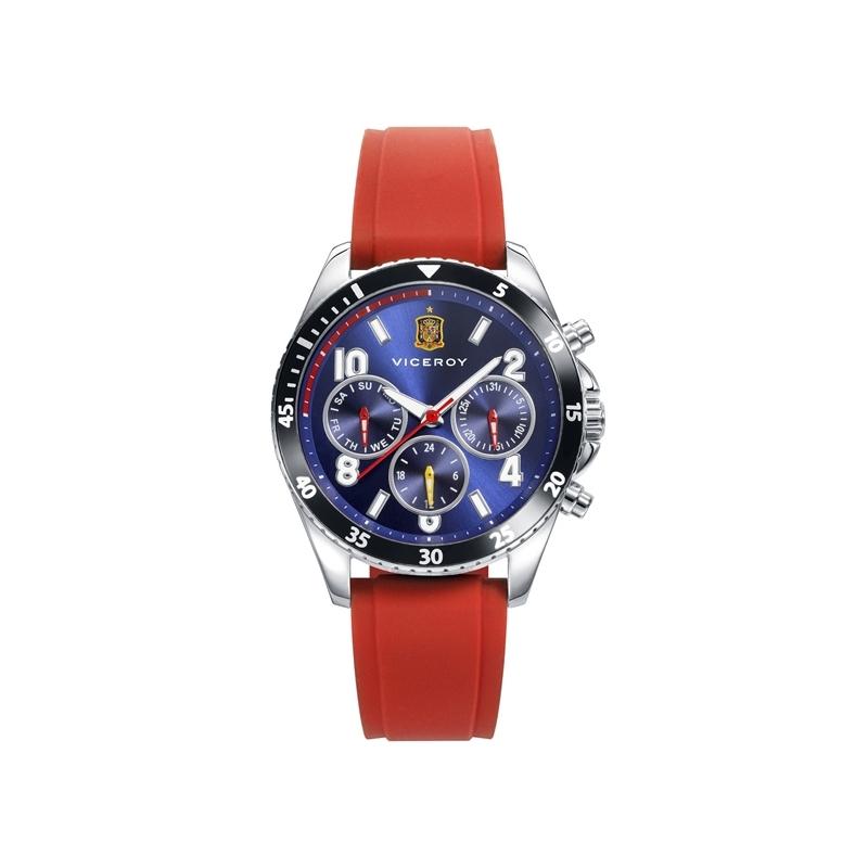 Reloj Viceroy de la Selección Española de Fútbol, con correa de caucho roja, ref. 42340-35.
