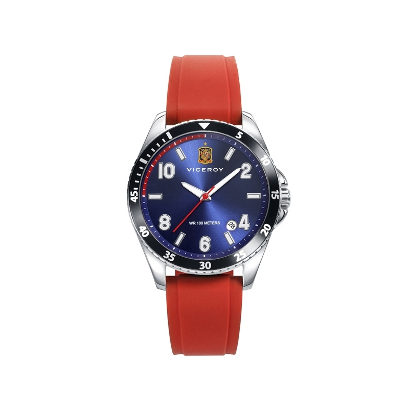 Reloj Viceroy de la Selección Española de Fútbol, con correa de caucho roja, ref. 42342-35.
