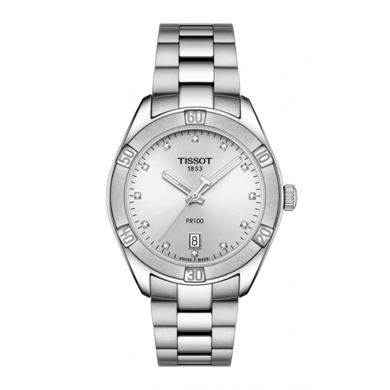 Reloj Tissot PR 100 Sport Chic de mujer, con diamantes ref.  T1019101103600.