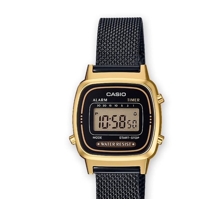 mejor selección d8b1c 98315 Reloj Casio de mujer, dorado y negro, de estilo retro, ref. LA670WEMB-1EF.