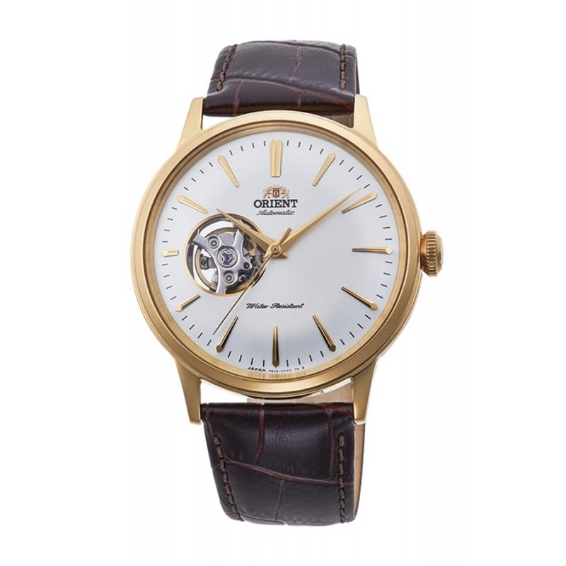 Reloj Orient automático dorado para hombre, con ventana a maquina, ref. AG0003S10B.