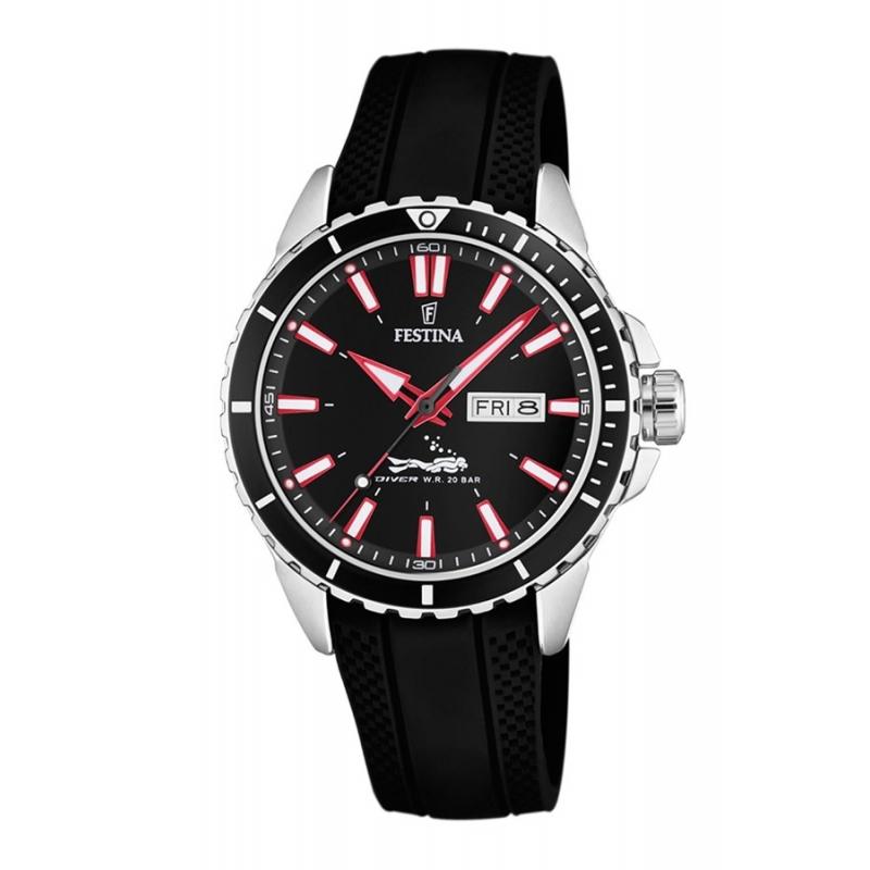 Reloj Festina Diver 200 metros F20378/2, para hombre. Con correa de silicona.
