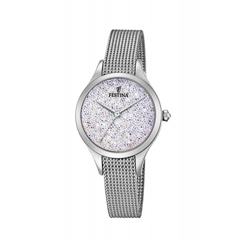 Reloj Festina F20336/1 de mujer, en acero, malla y piedras Swarovski®.