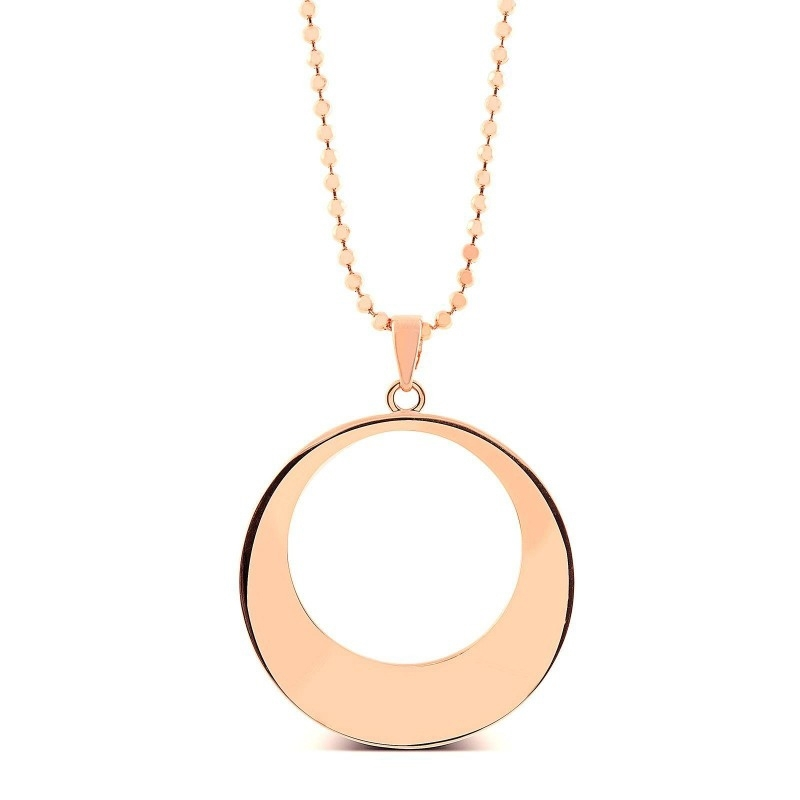 "Colgante con collar dorado, en forma de círculo, ""Toglo"" de Luxenter."