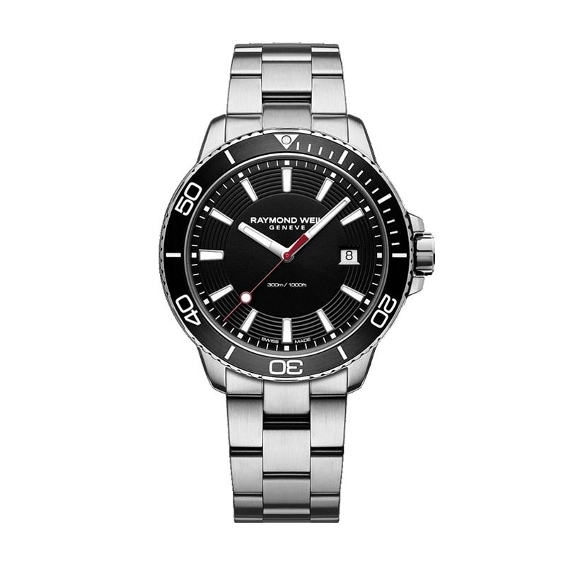 Reloj Raymond Weil Tango 8260-ST1-20001 Diver 300m., de hombre, en acero y esfera negra.