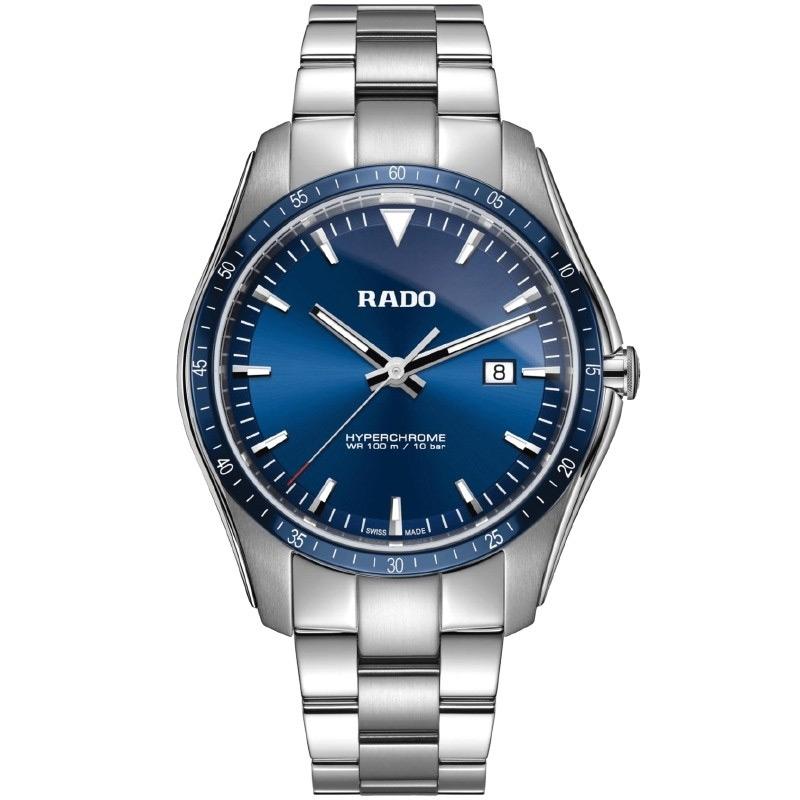 Reloj Rado HyperChrome R32502203 de hombre en acero y cerámica, con esfera azul.