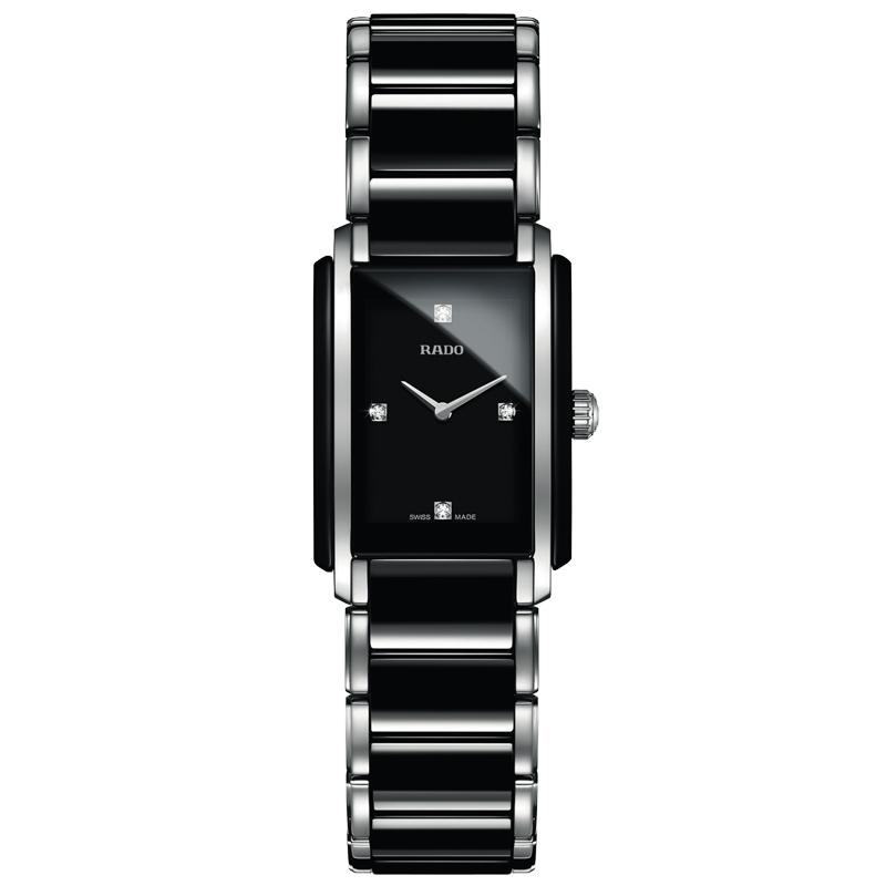 Reloj Rado Integral para mujer R20613712, en cerámica negra, acero y diamantes.