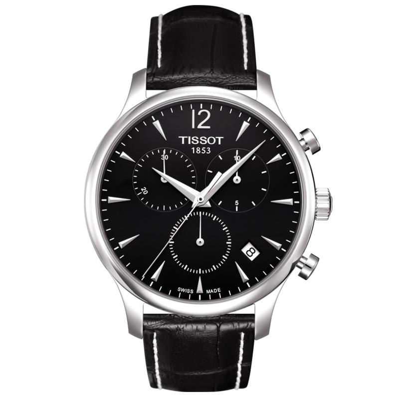 Reloj Tissot Tradition T0636171605700 de hombre con cronógrafo en negro.