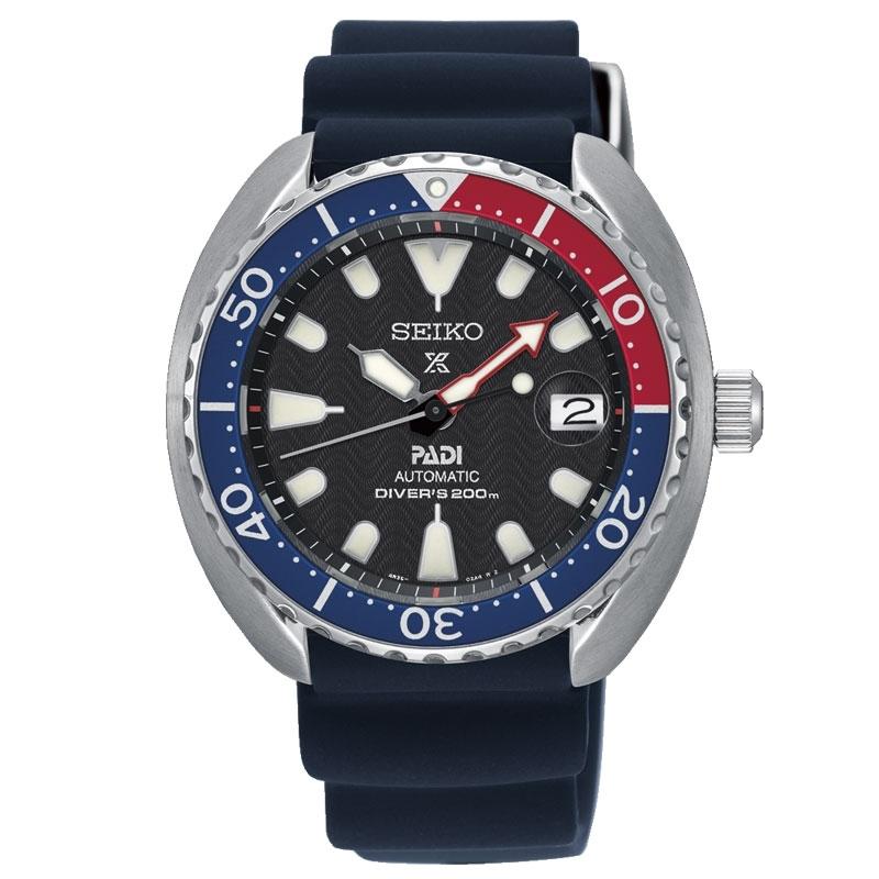 Reloj Seiko Prospex SRPC41K1 Diver 200 metros Padi automático para hombre, con caucho.