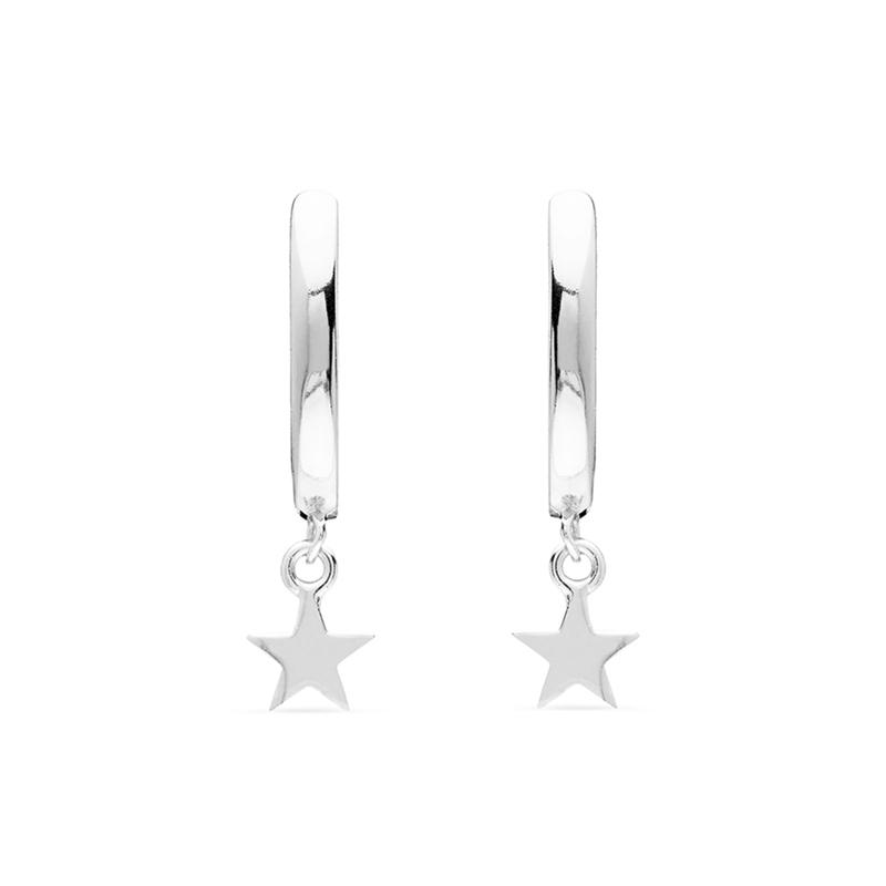 Aros con estrella con plata rodiada, de Luxenter ref. EH291999.