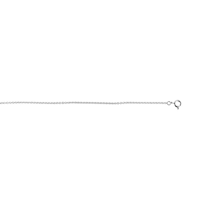 Cadena de plata Luxenter, 40 centímetros de largo, para colección letras.