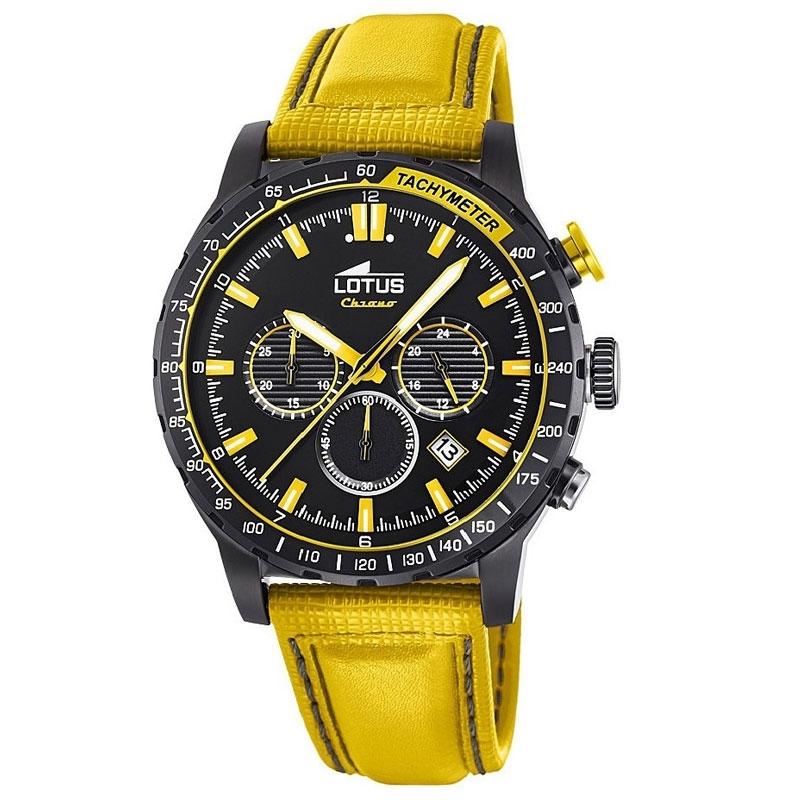 Reloj Lotus coloR de hombre, en amarillo y negro, cronógrafo ref. 18588/1.