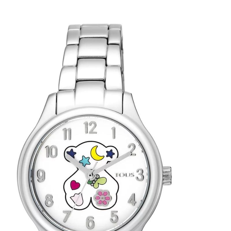 f8e4272a7bd6 ❤️ Reloj Tous Nit para niña en acero y motivos de colores 900350205.