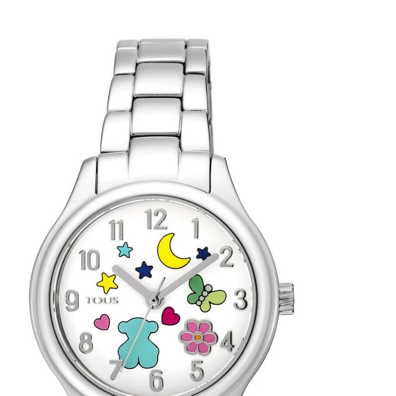 a37d6784fc85 ❤️ Reloj Tous Nit de niña en acero y motivos colores 900350205.