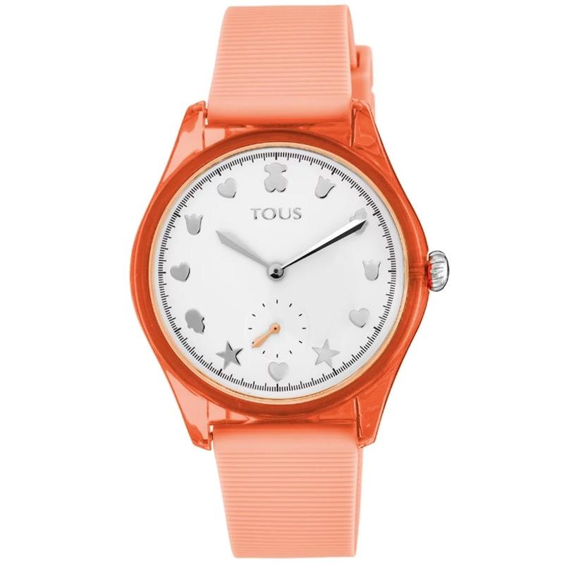 Reloj Tous Free Fresh de mujer en policarbonato y caucho coral, 900350055.