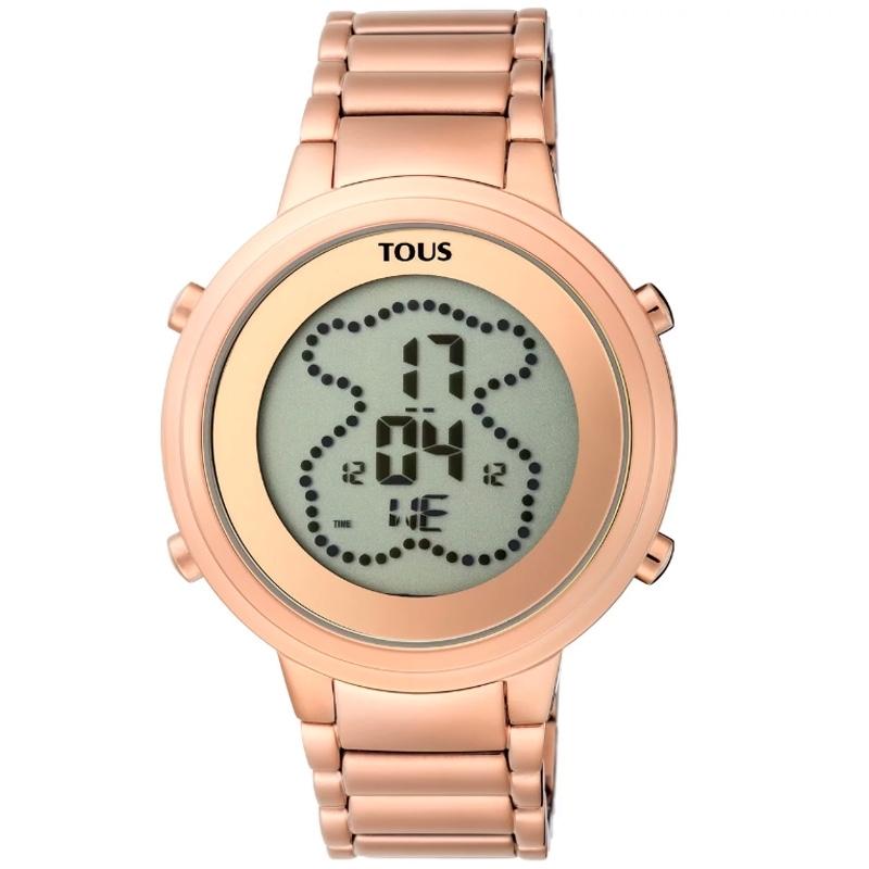 Reloj Tous Digibear digital de mujer, en acero dorado en oro rosé, 900350045.