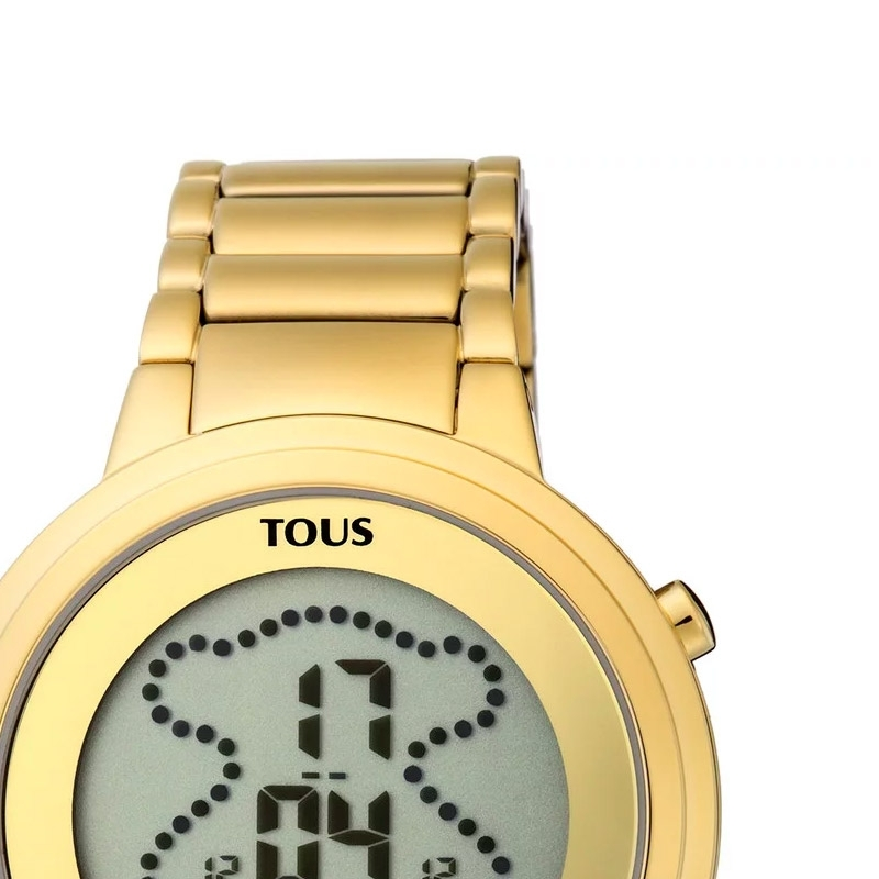 talla 40 734d1 06b11 ❤️Reloj Tous Digibear de mujer digital en acero dorado ...