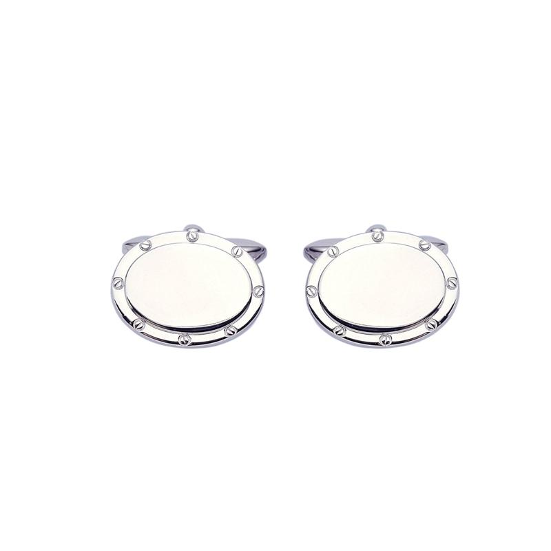 Gemelos ovalados en plata Darlington de Duran Exquse, 00074071.