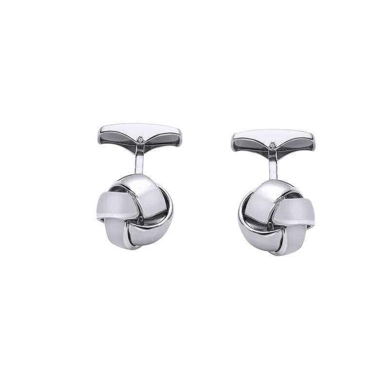 Gemelos en plata con forma de nudo, de Duran Exquse, 00074138.