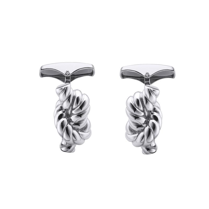 Gemelos de plata en forma de nudo marinero, de Durán Exquse 00074142.